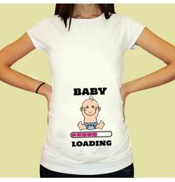 Дамска тениска с щампа за бременни - 15