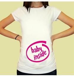 Дамска тениска с щампа за бременни - 16
