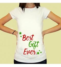 Дамска тениска с щампа за бременни - 17