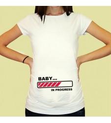 Дамска тениска с щампа за бременни - 19
