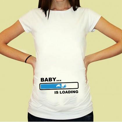 Дамска тениска с щампа за бременни - 20