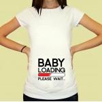 Дамска тениска с щампа за бременни - 21