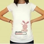 Дамска тениска с щампа за бременни - 22