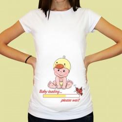 Дамска тениска с щампа за бременни - 24