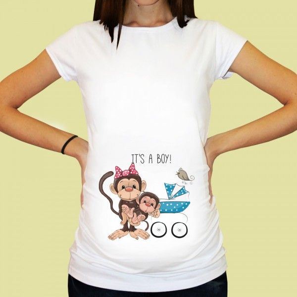 Дамска тениска с щампа за бременни - 25