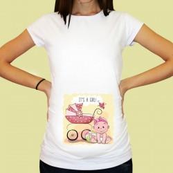 Дамска тениска с щампа за бременни - 26