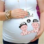 Дамска тениска с щампа за бременни - 28
