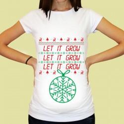 Дамска тениска с щампа за бременни - 29