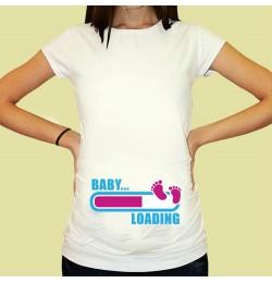 Дамска тениска с щампа за бременни - 03