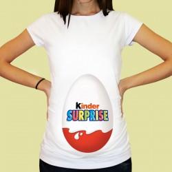 Дамска тениска с щампа за бременни - 32