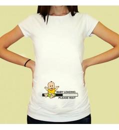 Дамска тениска с щампа за бременни - 06
