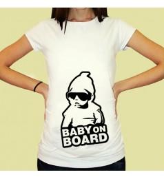 Дамска тениска с щампа за бременни - 07