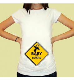 Дамска тениска с щампа за бременни - 08