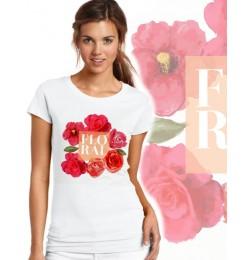 Дамска тениска - FLORAL